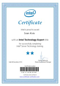Ivan Kvis je Intel Technology Expert