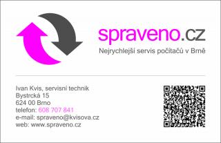 Nejrychlejší servis počítačů v Brně představuje svou vizitku